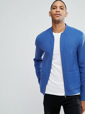 Bomberjackor - ASOS Milano Stitch Bomber Jacket In Blue