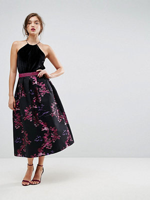 ASOS Jacquard Prom Skirt with Metallic Waistband