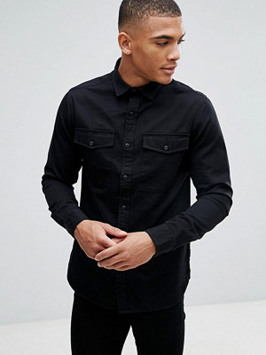 Skjortor - Only & Sons Shirt In Slim Fit Military Twill
