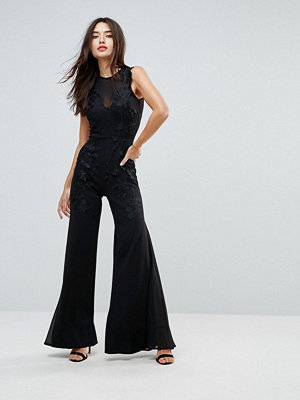 Club L Wide Leg Embroidered Jumpsuit
