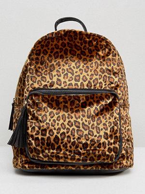 Pieces ryggsäck Leopard Print Backpack