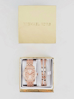 Michael Kors MK3744 Ritz Bracelet & Watch Gift Set In Rose Gold