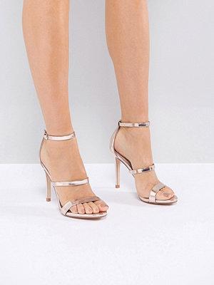 Sandaler & sandaletter - Steve Madden Sheena Rose Gold Barely There Heeled Sandals