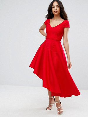 City Goddess Skater Dress With Sweetheart Neck