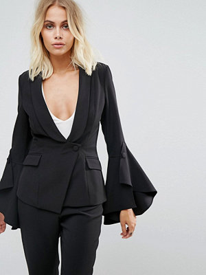 Lavish Alice Frill Sleeve Fitted Blazer