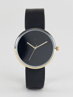 Klockor - ASOS Minimal Gold and Black Split Case Watch