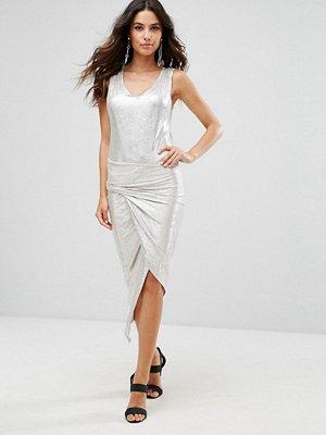 Liquorish Metallic Twisted Dress
