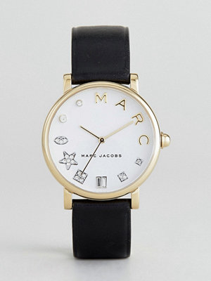 Klockor - Marc Jacobs Classic MJ1599 Leather Watch In Black