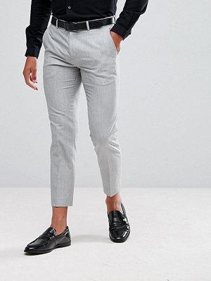Byxor - Burton Menswear Cropped Trouser In Marl