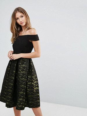 Closet London Closet Off The Shoulder Pleated Skirt Dress
