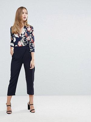 Closet London Closet Floral 3/4 length Sleeve Jumpsuit