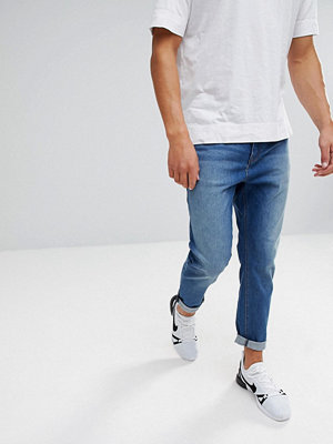 Jeans - ASOS Tapered Jeans In Mid Wash Blue