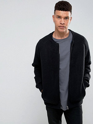 Tröjor & cardigans - Tokyo Laundry Check Lined Knitted Bomber
