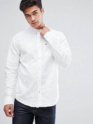Skjortor - Hollister Oxford Shirt Buttondown Slim Fit in White