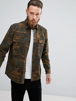 ASOS Overshirt With Camo Print