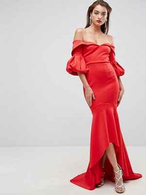 ASOS Edition ASOS RED CARPET Scuba Maxi Dress