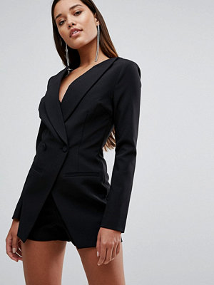 Jumpsuits & playsuits - Lavish Alice Off The Shoulder Double Breasted Blazer Style Playsuit