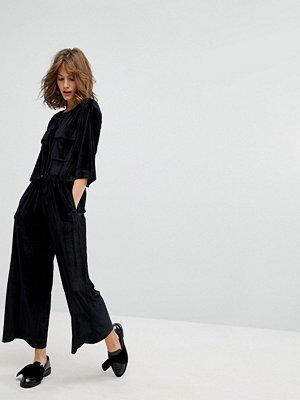 Jumpsuits & playsuits - Monki Pocket Front Velvet Jumpsuit