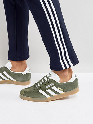 Adidas Originals Gazelle Super Trainers In Green BY9778