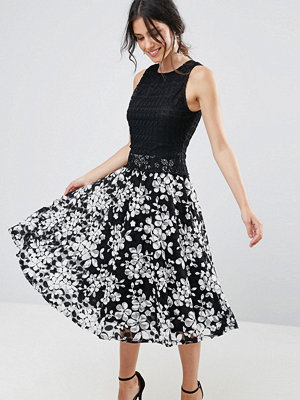 Uttam Boutique Contrast Lace Skater Dress