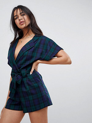 Jumpsuits & playsuits - ASOS Wrap Playsuit in Check