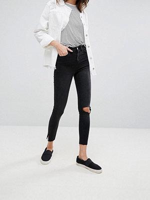Noisy May Lexi Skinny jeans med slits vid bensluten