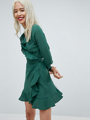 ASOS Ruffle Wrap Mini Dress