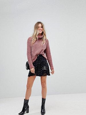 Boohoo Pearl Embellished Denim Mini Skirt
