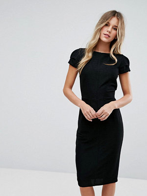 Closet London Structured Plisse Pencil Dress