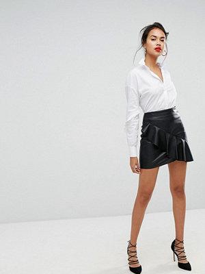 Morgan Aymmetriskt rynkad minikjol