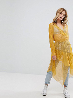 Bershka Dobby Mesh Maxi Dress