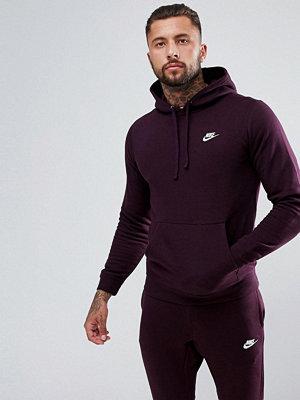 Street & luvtröjor - Nike Club Fleece Pullover Hoodie In Purple 804346-652