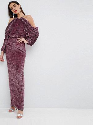 ASOS Red Carpet Embellished Drape Front Kimono Maxi Dress
