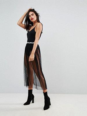 ASOS Midi Tulle Skirt with LOVE Waistband