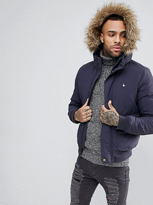 Bomberjackor - Jack Wills Pateley Down Bomber Jacket With Hood In Navy