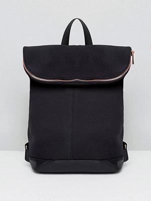 ASOS ryggsäck Scuba Backpack With Rose Gold Zip