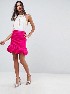 Kjolar - ASOS DESIGN Minikjol med hög midja och puffdetalj