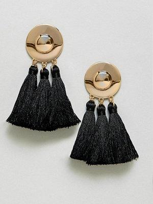 ASOS örhängen Metal Disc Tassel Earrings