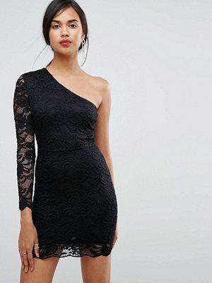 Ivyrevel One Shoulder Lace Bodycon Mini Dress