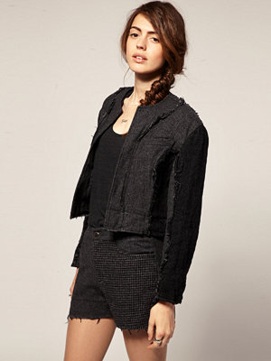 Blaak For ASOS Patch Wool Cop jacket