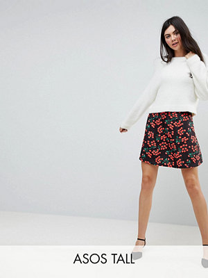 Asos Tall Skater Skirt in Cherry Print