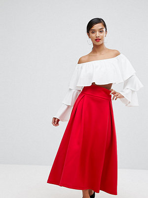 ASOS Petite High Waisted Scuba Midaxi Prom Skirt