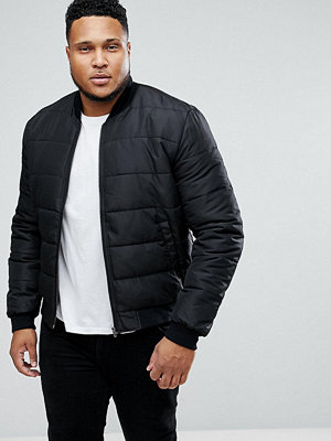 Bomberjackor - ASOS PLUS Quilted Bomber Jacket in Black