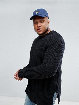 Tröjor & cardigans - ASOS PLUS Oversized Textured Jumper In Black
