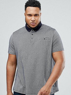 Pikétröjor - Burton Menswear PLUS Polo With Contrast Collar