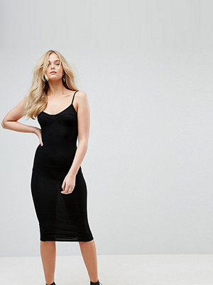 Asos Tall Midi Seam Detail Cami Bodycon Dress