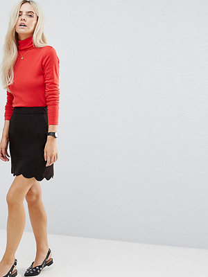 ASOS Petite Figursydd a-linjeformad minikjol med uddkant