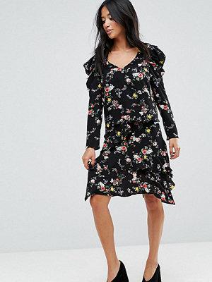 Miss Selfridge Petite Blommig kjol med ojämn nederkant