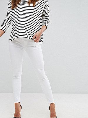 ASOS Maternity Ridley Vita jeans med smal passform med midjeband under magen