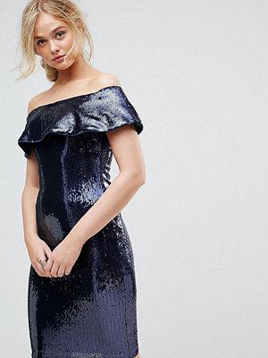TFNC Tall Off Shoulder Sequin Bandeau Midi Dress